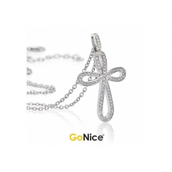 Collana con Croce Infinita Luxury Infinite Love Argento
