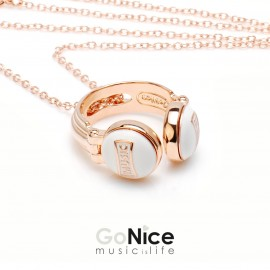Collana Music is Life Rock in bronzo e patinatura in oro con Catenina