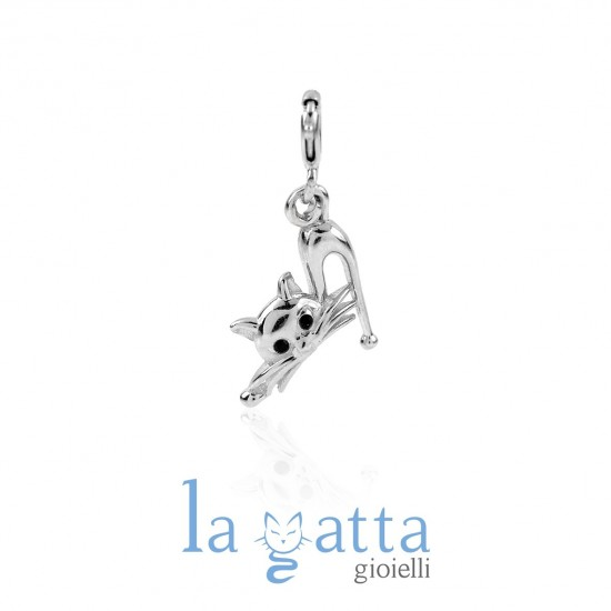 Ciondolo Gatto, LA GATTA ELEGANTE CHARM LG04CH