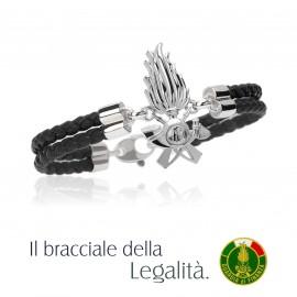 IL BRACCIALE DELLA LEGALITA' DEDICATO ALLA GUARDIA DI FINANZA, NERO.