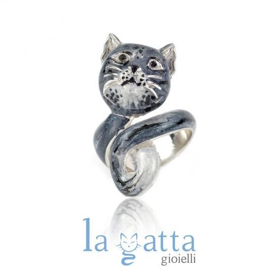 più recente 02183 42476 Anello Gatto, LA GATTA I METICCI LG21GANB