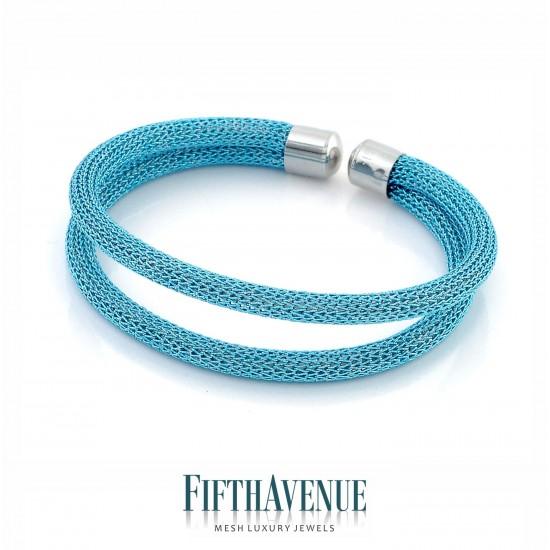 Bracciale Lurex Fifth Avenue Argento/Azzurro