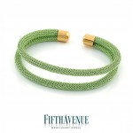 Bracciale Lurex Fifth Avenue Argento/Verde