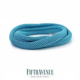 Bracciale/Collier Lurex Fifth Avenue Argento/Azzurro