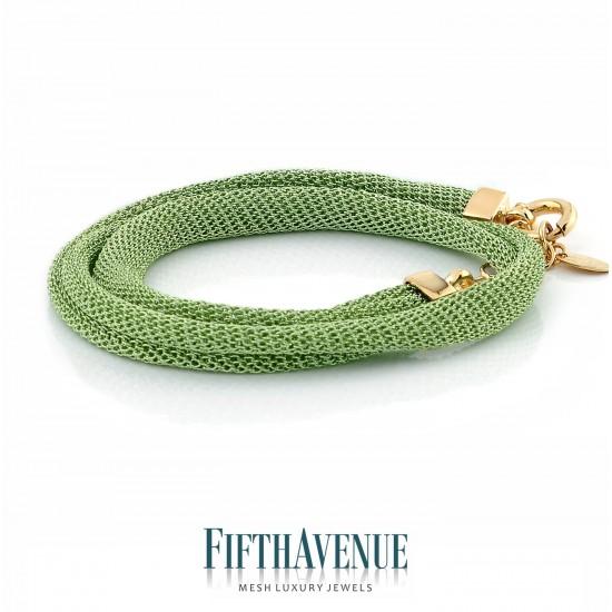 Bracciale/Collier Lurex Fifth Avenue Argento/Verde