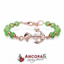 Bracciale con Ancora Sublime AncoraTi Rosè Verde