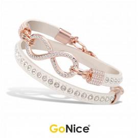 Bracciale con Infinito Abu Dhabi Infinite Love Bianco Rosé