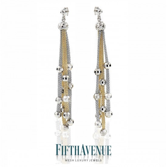 Orecchini Fifth Avenue Lurex e Argento 925 FA_400_OR_GB