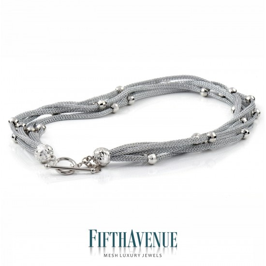 Collana Fifth Avenue Lurex e Argento 925 FA_401_CL_B