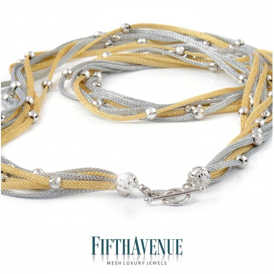 Collana Fifth Avenue Lurex e Argento 925 FA_400_CLS_GB