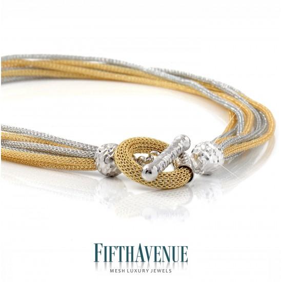 Collana Fifth Avenue Lurex e Argento 925 FA_450_CL_GB