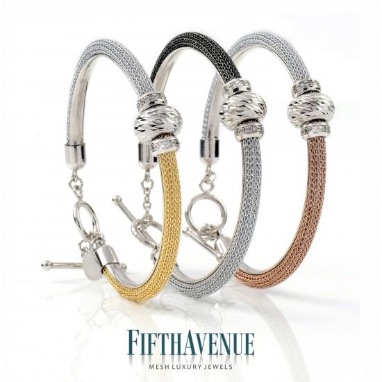 Bracciale Fifth Avenue Lurex e Argento 925 Bianco e Giallo FA_460_BR_GB